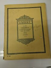 Chopin's Complete Works For The Piano Makhuli Book 8 Etudes Vol.1551 1934