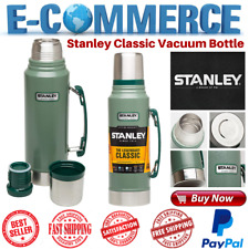 Original Vacuum Thermos Bottle Coffee Green Stanley Hammertone 1.1 Qt Stainless
