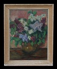 Jean Louis LEFORT (1875-1954)Bouquet de lilas Bordeaux salon des Tuileries PARIS
