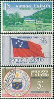 Samoa 1962 SG246-248 Vailima Flag Arms FU