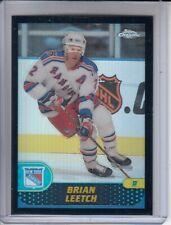 2001-02 Topps Chrome Black Border Refractors #4 Brian Leetch 27/50