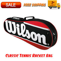 Wilson Classic Tennis Racket Bag, Outdoors & Sports Equipment, Zipper Pockets