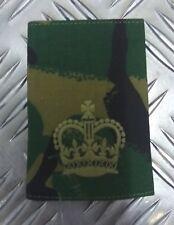Genuine British Army Woodland Camo Warrant Offcier WO2 Rank Slide Epaulette -NEW