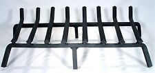 """FIREPLACE LG 28"""" IRON WHALE RIB COWBOY CAMP FIRE FREE STANDING GRATE LOG HOLDER"""