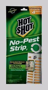 5580 HOT SHOT NO PEST STRIP Bug Trap Repellent Kills Flying Crawling Insect NEW!