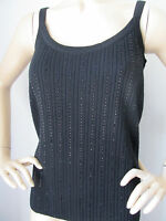 NWT ST JOHN KNIT SIZE S TOP SHELL CASHMERE BLACK