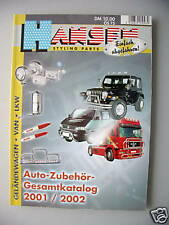 Hansen Styling Parts Auto-Zubehör Katalog 2001/2002