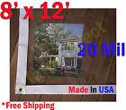 8 ft x 12 ft Clear 20 mil Vinyl Tarp Waterproof Curtain Porch Patio Enclosure