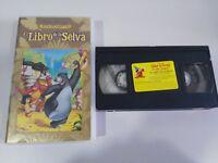 EL LIBRO DE LA SELVA LOS CLASICOS DE WALT DISNEY - VHS CINTA TAPE CASTELLANO