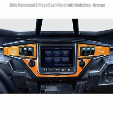 3 Piece 6 Switch Dash Panel Orange for 2017+ Polaris RZR XP1000 Ride Command Edi