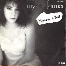 "#86 Mylène Farmer Maman a tort (7"" Pressage France -1985)"