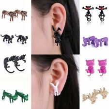 Alloy Clip - On Round Stone Plastic Costume Earrings