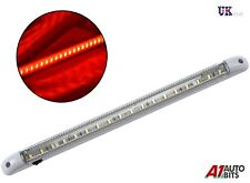 1X 18 LED 24V RED LIGHT STRIP BAR TRUCK LORRY CABIN INTERIOR 400MM ON/OFF SWITCH