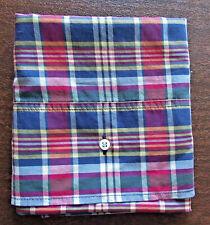 Ralph Lauren Kennebunkport Madras Plaid Standard PILLOW CASE Blue Red Yellow