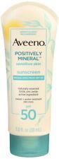 Aveeno Positively Mineral Sensitive Skin SPF 50 Sunscreen 3oz