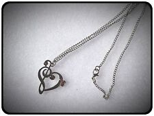 Heart Shaped Music Note Necklace,Gift Idea,Music,Gig,Jewellery,Pretty,Necklace