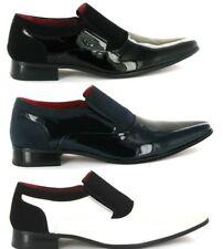 Para hombres Cuero Nobuck formal Forrado En Punta Zapatos Para Boda, Fiesta (Hackney)