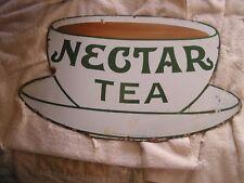 Antique Nectar Tea Advertising Porcelain Sign