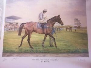EQUESTRIAN HORSE RACING PICTURE PRIINT EXETER 2004 FINAL TRIUMPH