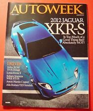 AUTO WEEK MAGAZINE JULY 11,2011..2012 JAGUAR XKR-S: IS TO MUCH OF A GOOD THING?