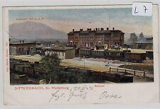 953, Dittersbach / Waldenburg Bahnhof von der Gleisseite aus gesehen Color !