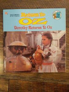 Walt Disney Pictures Return To Oz Dorothy Returns To Oz A Golden Look-Look Book