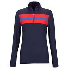 NWT Golfino Ladies Retro Sport Troyer Navy Golf 1/4 Zip 4339722 590 sz 6 or 16