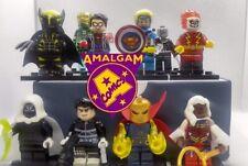 Custom set of Amalgam Comics Figures Spiderboy Super Soldier Iron Lantern
