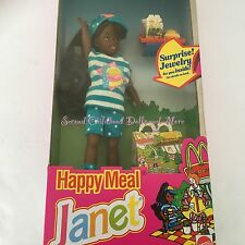 1993 NIB Barbie MCDONALDS HAPPY MEAL JANET Friend of Stacie AA African Girl Doll