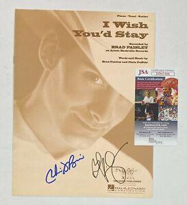 "BRAD PAISLEY Signed Autograph Auto ""I Wish You'd Stay"" Sheet Music JSA COA"