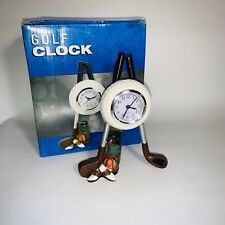 Golf Themed Desk top Ceramic Golf Ball club Clock 7""