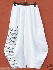 PURO LINO Ballonhose Leinen Hose Linen Trousers Pantalon XXL 52 54 Lagenlook