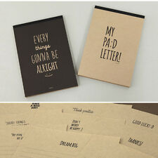 63sheets Brown kraft Paper Letter Lined Writing Stationery 9type Paper Pad