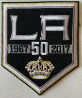 LOS ANGELES LA KINGS PATCH NHL 50TH ANNIVERSARY YEAR 1967-2017 PUCK STYLE JERSEY