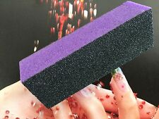 12 X Nail Sanitizable Purple Medium/ Course Buffer Block Pack of 12 Made in UK
