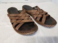 BORN Brown Leather Sandals Size 10 US/ 42 EU