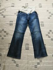 A Pea In The Pod Maternity Denim Blue Jeans Belly Band Flare Leg Size 31
