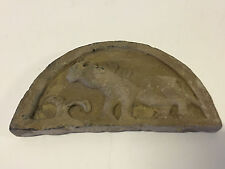 Antique Chinese Possibly Ancient Terra Cotta Temple Roof Tile Rhino w/ Mark