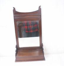IMPORT - Antique British Dresser Tabletop Vanity / Shaving Mirror w/Glove Box
