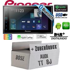 Pioneer Radio für Audi TT 8J Bose 2-DIN Bluetooth DAB+ Apple CarPlay Einbauset