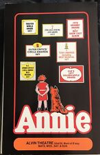 Annie Broadway musical orignal awards 1977 windowcard