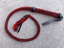 """Rojo y Negro 34"""" pulgadas látigo de cuero de gamuza y cuero negro nudo Flogger Látigo/"""
