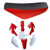 Pit Dirt Bike Red PLASTICS Fender + Complete SEAT CRF50 50cc 110cc 125cc SSR SDG