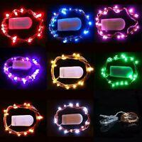 10LED Weihnachten Drahtlichterkette Batterie Lichterkette Party Hochzeit Deko 1M