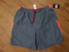 bnwt-mens lined nike swim shorts-size xx-large-gray-sheds water