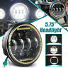"DOT Motorcycle 5-3/4"" 5.75 LED Headlight High Low DRL Beam For Harley Sportster"