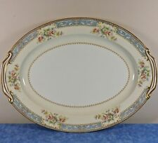 "Noritake China CERULEAN 16"" Oval Serving Platter- Occupied Japan #4726- EUC-HTF"