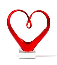 "LEONARDO "" Heart "" Skulptur  Herz rot Glasskulptur, Glasobjekt, Glasfigur 090871"