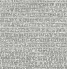 "New York Burrough Wallpaper Bolt - Metallic Silver- 20.5"" x 396"" Roll (56 sq ft)"