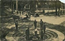 Marion Indiana~Malter Park~Standing Around Flowing Well~Nice Horse & Buggy~1910